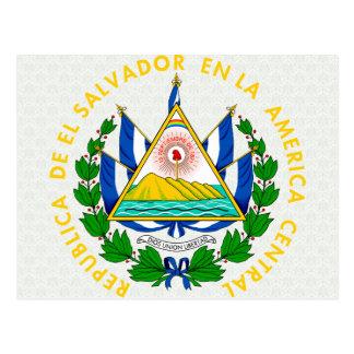 El Salvador Coat of Arms detail Postcard