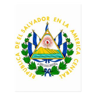 El Salvador coat of arms Postcard