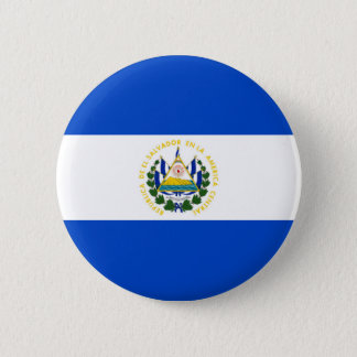 El Salvador country long flag nation symbol republ 2 Inch Round Button