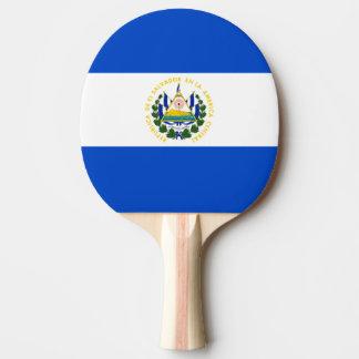 El Salvador country long flag nation symbol republ Ping Pong Paddle