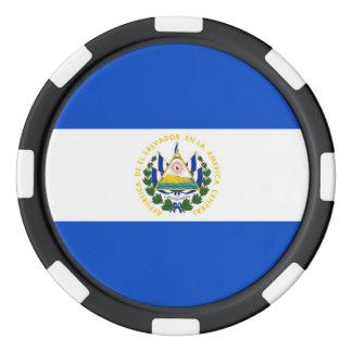 El Salvador country long flag nation symbol republ Poker Chips