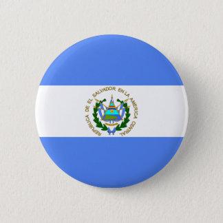 El Salvador Flag 2 Inch Round Button