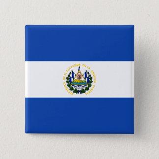 El Salvador Flag 2 Inch Square Button
