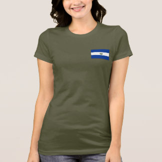 El Salvador Flag and Map dk T-Shirt
