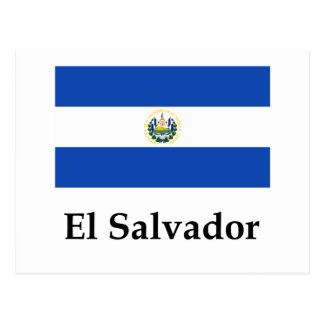 El Salvador Flag And Name Postcard