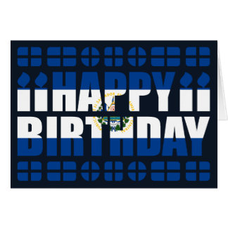 El Salvador Flag Birthday Card