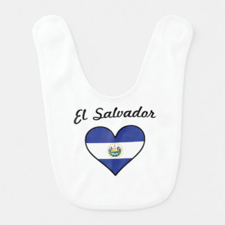 El Salvador Flag Heart Bib