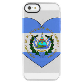 El Salvador Flag Heart Clear iPhone SE/5/5s Case
