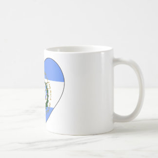 El Salvador Flag Heart Coffee Mug