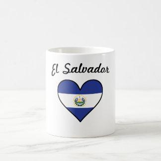 El Salvador Flag Heart Coffee Mug