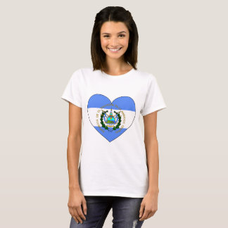 El Salvador Flag Heart T-Shirt