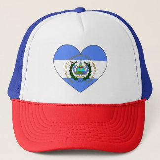 El Salvador Flag Heart Trucker Hat