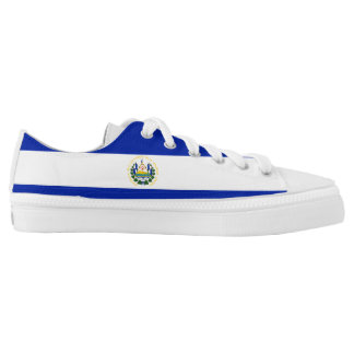 El Salvador Flag Low-Top Sneakers