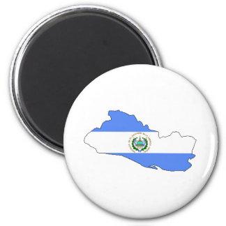 El Salvador Flag Map full size Magnet