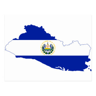 El Salvador Flag map SV Postcard