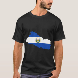El Salvador Flag Map T-Shirt