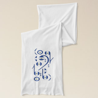 El. Salvador Flag Musical Notes Scarf