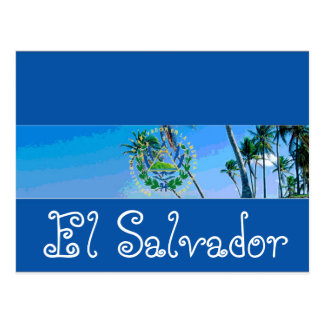 El Salvador flag Postcard