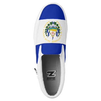 El Salvador Flag Slip-On Sneakers