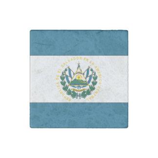 El Salvador Flag Stone Magnets