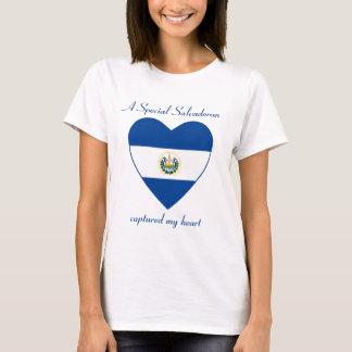El Salvador Flag Sweetheart T-Shirt