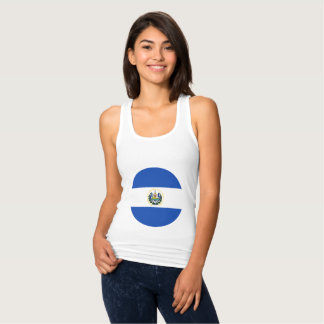 El Salvador Flag Tank Top