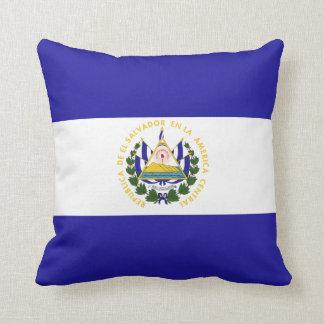 El Salvador Flag Throw Pillow