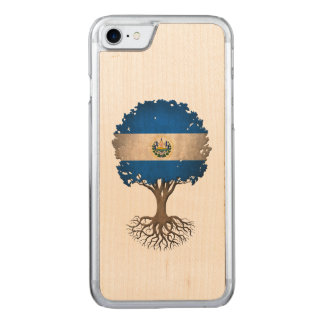 El Salvador Flag Tree of Life Carved iPhone 8/7 Case