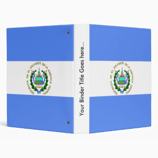El Salvador High quality Flag 3 Ring Binder