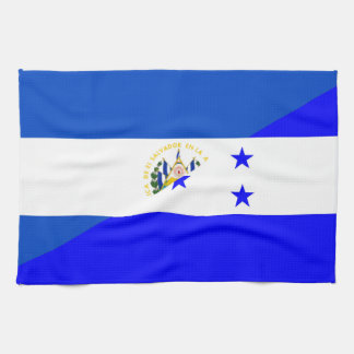 el salvador honduras half flag country symbol kitchen towel