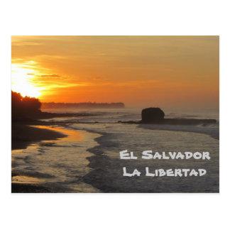 El Salvador, La Libertad, El Sunzal sunrise Postcard