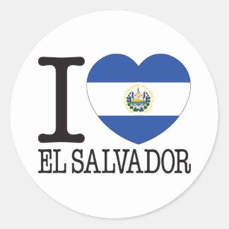 El Salvador Love v2 Classic Round Sticker