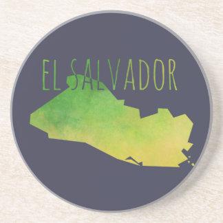 El Salvador Map Beverage Coaster