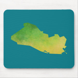 El Salvador Map Mouse Pad