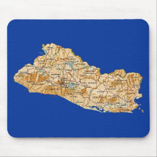 El Salvador Map Mousepad