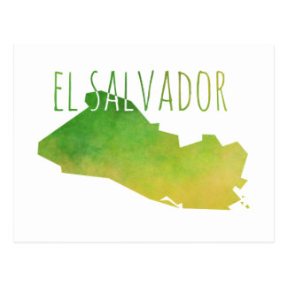 El Salvador Map Postcard