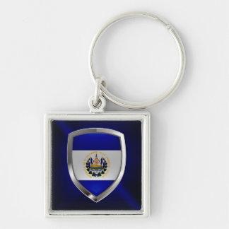 El Salvador Mettalic Emblem Keychain