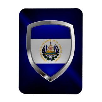El Salvador Mettalic Emblem Magnet