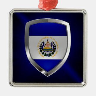 El Salvador Mettalic Emblem Metal Ornament