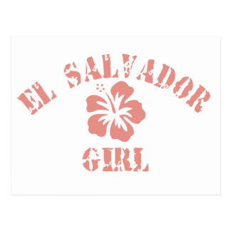 El Salvador Pink Girl Postcard