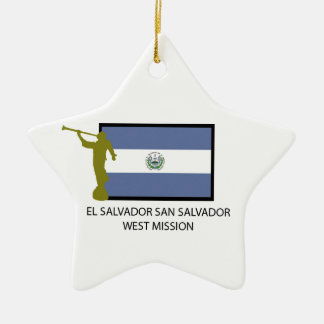 EL SALVADOR SAN SALVADOR WEST MISSION LDS CTR CERAMIC ORNAMENT
