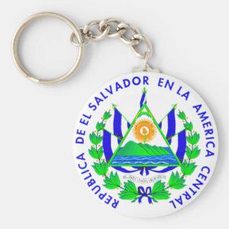 El Salvador shield Basic Round Button Keychain