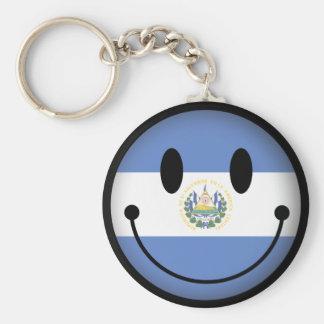 El Salvador Smiley Keychain