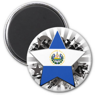 El Salvador Star 2 Inch Round Magnet