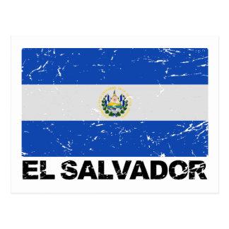 El Salvador Vintage Flag Postcard