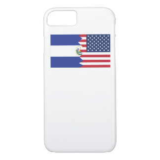 El Salvadorian American Flag iPhone 7 Case