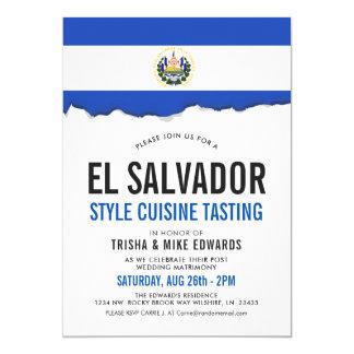 El Salvadorian Cuisine | Party Flag White Invite