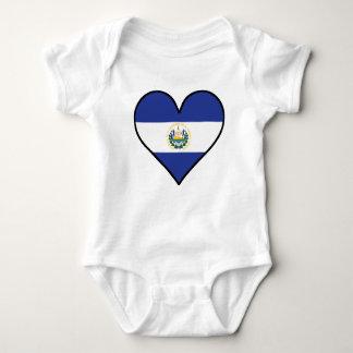 El Salvadorian Flag Heart Baby Bodysuit