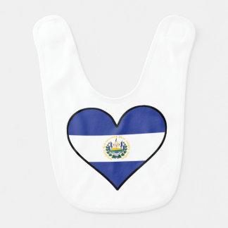 El Salvadorian Flag Heart Bib