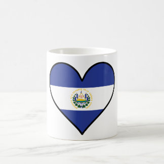 El Salvadorian Flag Heart Coffee Mug